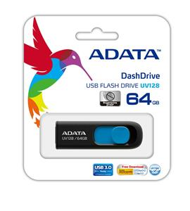 ADATA DashDrive-UV128-USB-3.0-Flash-Memory-64GB